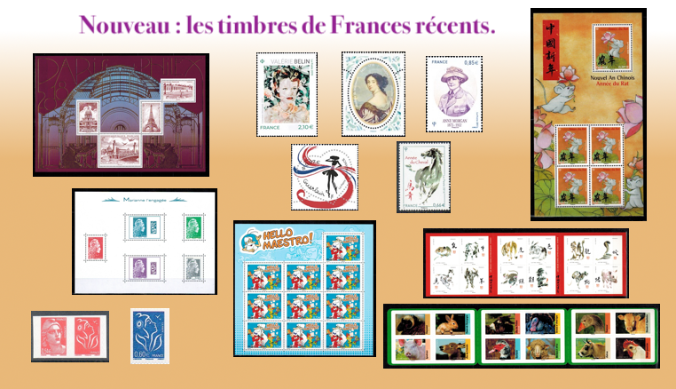 Les timbres de France récents